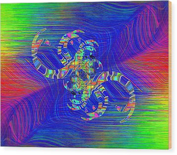 Wood Print featuring the digital art Abstract Cubed 362 by Tim Allen