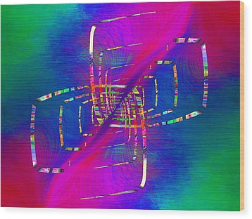 Wood Print featuring the digital art Abstract Cubed 363 by Tim Allen