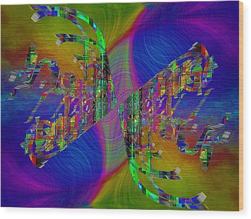Wood Print featuring the digital art Abstract Cubed 368 by Tim Allen