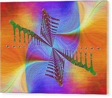 Wood Print featuring the digital art Abstract Cubed 372 by Tim Allen
