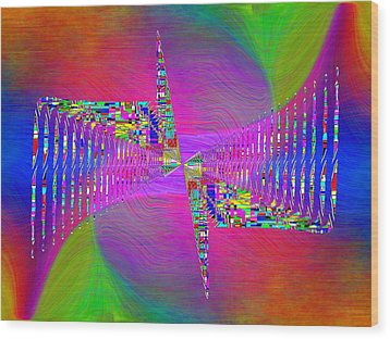 Wood Print featuring the digital art Abstract Cubed 373 by Tim Allen