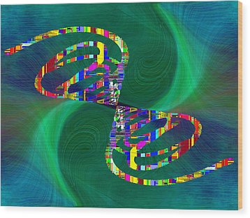 Wood Print featuring the digital art Abstract Cubed 374 by Tim Allen