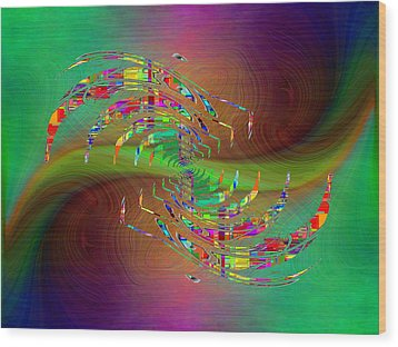 Wood Print featuring the digital art Abstract Cubed 379 by Tim Allen