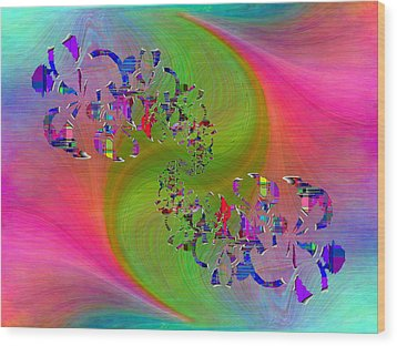 Wood Print featuring the digital art Abstract Cubed 381 by Tim Allen