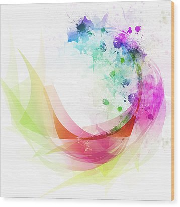 Abstract Curved Wood Print by Setsiri Silapasuwanchai