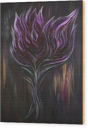Abstract Dark Rose Wood Print