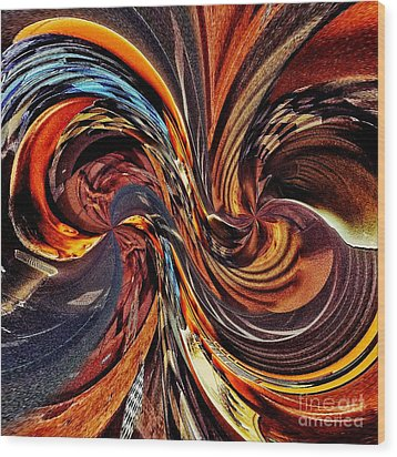 Abstract Delight Wood Print by Blair Stuart