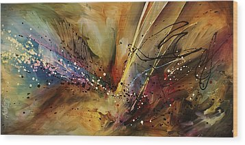 Abstract Design 108 Wood Print by Michael Lang