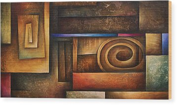 Abstract Design 30 Wood Print by Michael Lang