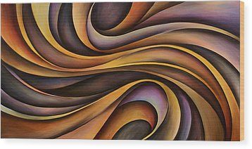 Abstract Design 31 Wood Print by Michael Lang