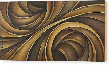 Abstract Design 34 Wood Print by Michael Lang