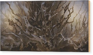 Abstract Design 57 Wood Print by Michael Lang