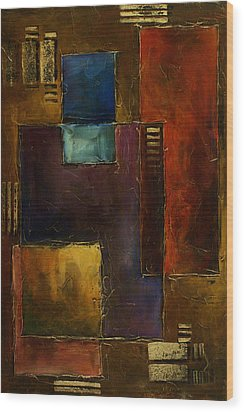 Abstract Design 65 Wood Print by Michael Lang