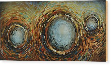 Abstract Design 68 Wood Print by Michael Lang