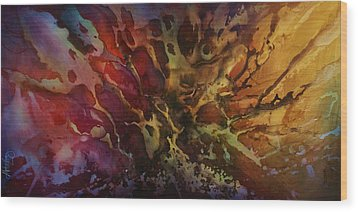 Abstract Design 74 Wood Print by Michael Lang