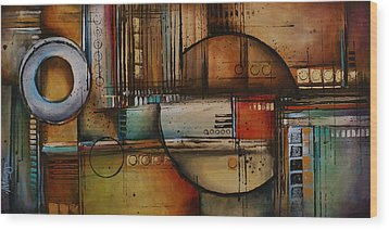Abstract Design 77 Wood Print by Michael Lang