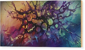 Abstract Design 83 Wood Print by Michael Lang