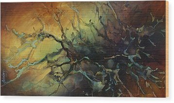 Abstract Design 85 Wood Print by Michael Lang