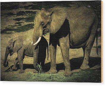 Abstract Elephants 23 Wood Print