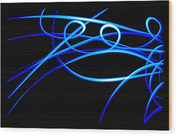 Abstract Energy Flow Wood Print