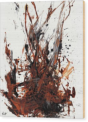 Abstract Expressionism Painting 50.072110 Wood Print