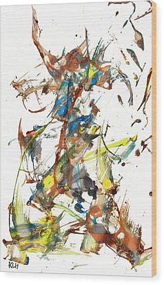 Wood Print featuring the painting Abstract Expressionism Painting Series 1040.050812 by Kris Haas