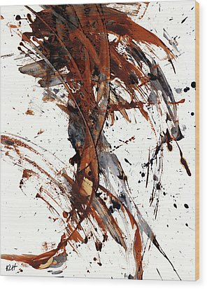 Abstract Expressionism Series 51.072110 Wood Print