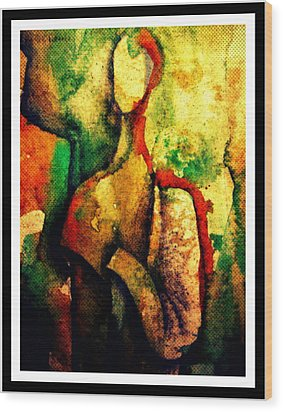 Abstract Figure # 3 Wood Print by Chris Boone