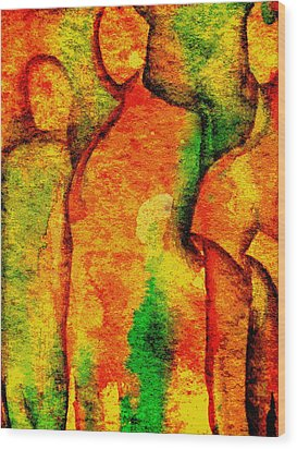 Abstract Figures Wood Print by Chris Boone