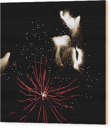 Abstract Fireworks IIi Wood Print
