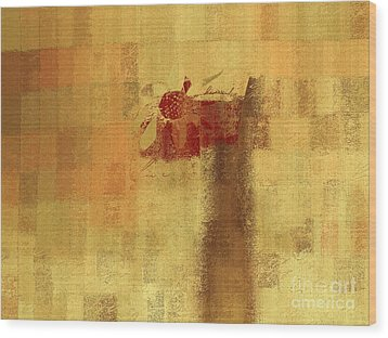 Abstract Floral - 14v2ft Wood Print by Variance Collections