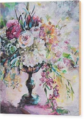 Abstract Floral Wood Print by Arleana Holtzmann