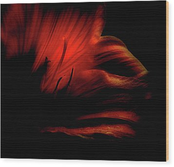 Abstract Flower 1 Wood Print