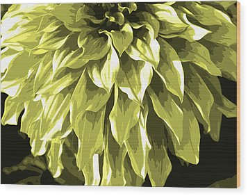 Abstract Flower 5 Wood Print