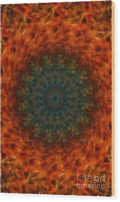 Abstract Fractal  Wood Print by Donna Greene
