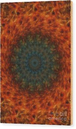 Abstract Fractal  Wood Print