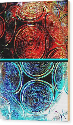 Wood Print featuring the digital art Abstract Fusion 275 by Will Borden