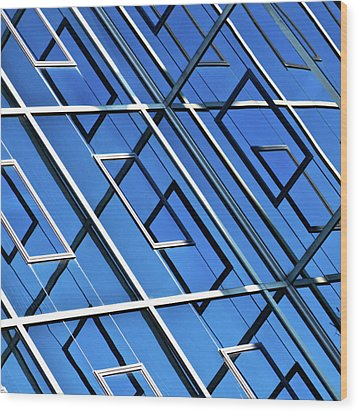 Abstract Geometric Reflection Wood Print by by Fabrice Geslin