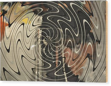Abstract Glass 3 Wood Print by Marty Koch