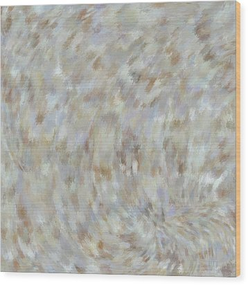 Wood Print featuring the mixed media Abstract Gold Cream Beige 6 by Clare Bambers