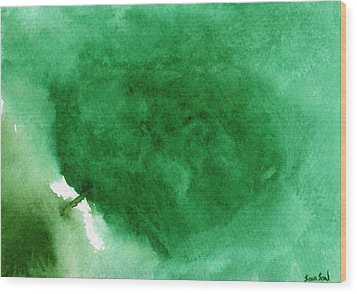 Abstract Green Wood Print by Sean Seal