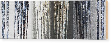 Wood Print featuring the digital art Abstract Icicles by Will Borden