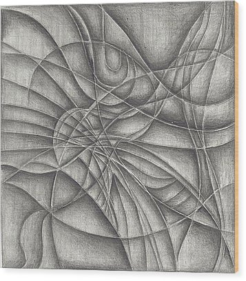 Abstract In Pencile Wood Print by Karen Musick