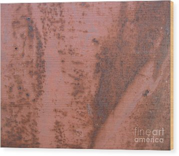Abstract In Rust Wood Print by Karen Sydney