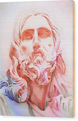 Wood Print featuring the painting Abstract Jesus 1 by J- J- Espinoza