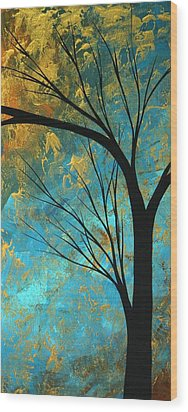 Abstract Landscape Art Passing Beauty 3 Of 5 Wood Print by Megan Duncanson
