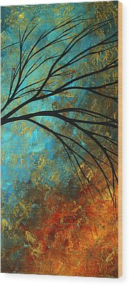 Abstract Landscape Art Passing Beauty 4 Of 5 Wood Print by Megan Duncanson