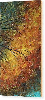 Abstract Landscape Art Passing Beauty 5 Of 5 Wood Print by Megan Duncanson