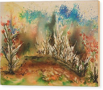 Abstract Landscape Wood Print by Betty-Anne McDonald