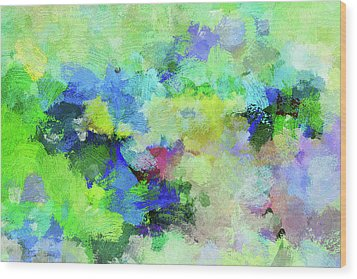 Wood Print featuring the painting Abstract Landscape Painting by Ayse Deniz